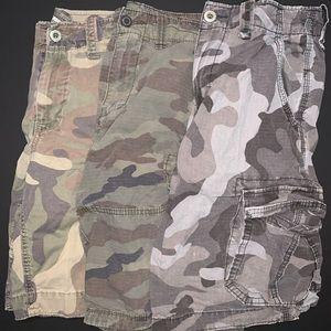 * 3 Pack * American Eagle - Camo - Cargo Shorts